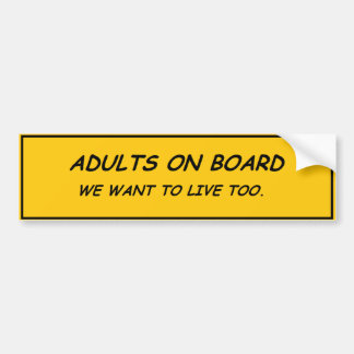 Adultos a bordo pegatina para coche