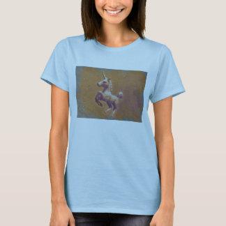 Adultos o niños (lavanda de la ropa del unicornio camiseta
