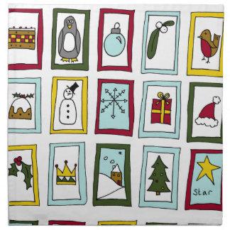 Advenimiento del navidad servilleta de tela