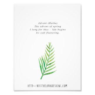 Advenimiento - poesía 8,5 x 11 imprimible impresión fotográfica