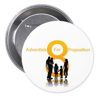 Adventists para el apoyo 8 chapa redonda de 7 cm
