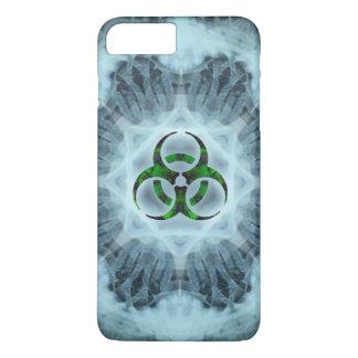 Advertencia del Biohazard de la radiografía Funda iPhone 7 Plus