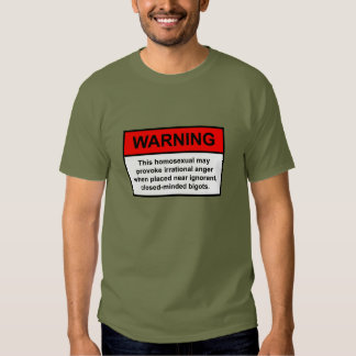 Advertencia del fanático camisas
