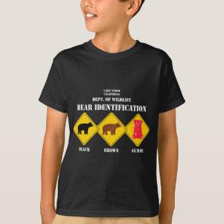 Advertencia del oso de Gummi - fauna de Tahoe Camiseta