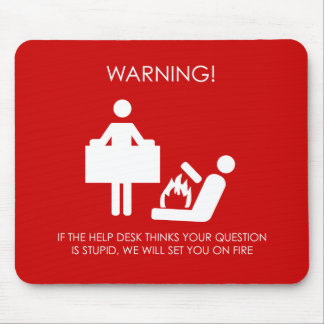Advertencia del puesto de informaciones alfombrilla de ratón