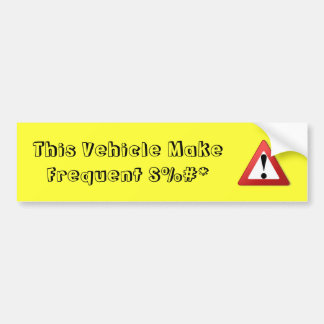advertencia divertida pegatina para coche
