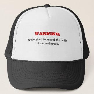 Advertencia: Exceder gorra divertido de la