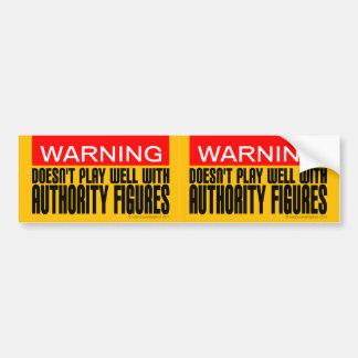 Advertencia: No juega bien con las figuras de auto Pegatina Para Coche