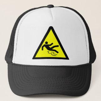 Advertencia superficial resbaladiza gorra de camionero