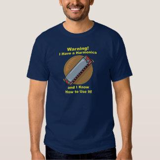 ¡Advertencia! Tengo una armónica… Camiseta