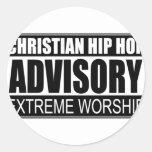 Advisory cristiano de Hip Hop… Pegatina Redonda
