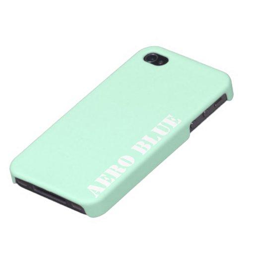 Aero- azul iPhone 4 protectores
