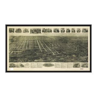 Aero- vista de la pluma Argyl, Pennsylvania (1916) Lienzo