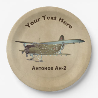 Aeroplano de Antonov An-2 Plato De Papel