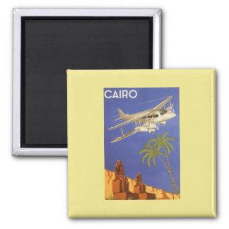 Aeroplano de El Cairo Egipto África del poster del Imán Cuadrado