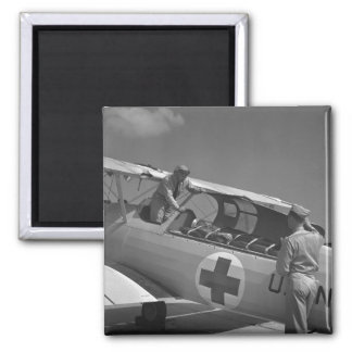 Aeroplano de la Cruz Roja WW2 Imán