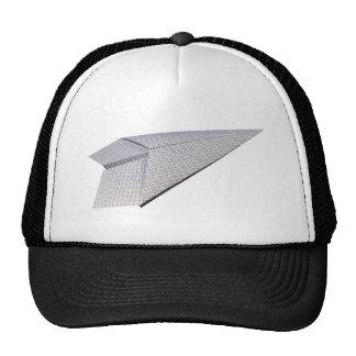 Aeroplano de papel - código del vuelo gorras de camionero