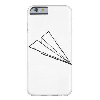 Aeroplano de papel funda para iPhone 6 barely there