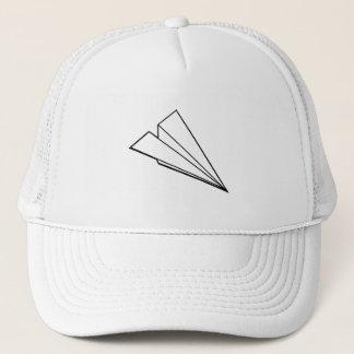 Aeroplano de papel gorra de camionero