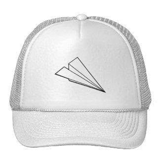 Aeroplano de papel gorras de camionero