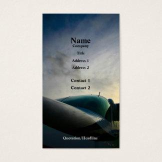 Aeroplano del cargo tarjeta de visita