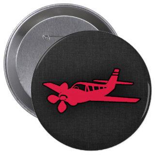 Aeroplano del rojo carmesí pins