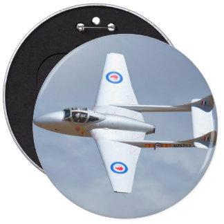 Aeroplano del vampiro chapa redonda 15 cm