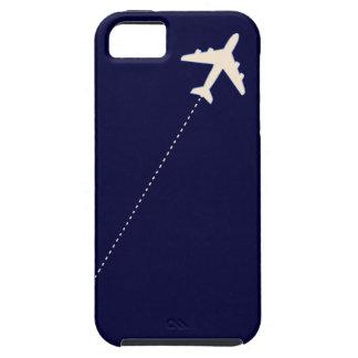 aeroplano del viaje con la línea de puntos iPhone 5 cobertura