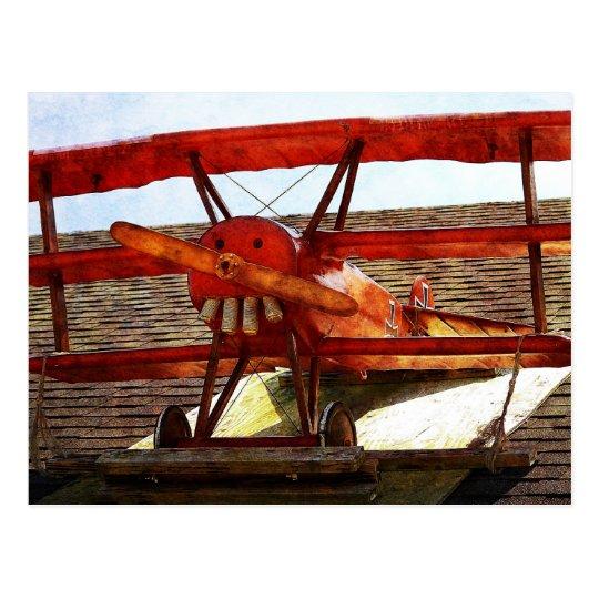 Aeroplano del vintage de Shirley Taylor Postal