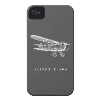 Aeroplano del vintage, planes de vuelo Case-Mate iPhone 4 protectores