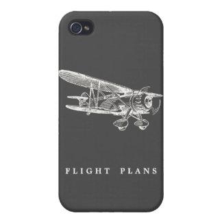 Aeroplano del vintage, planes de vuelo iPhone 4/4S carcasas