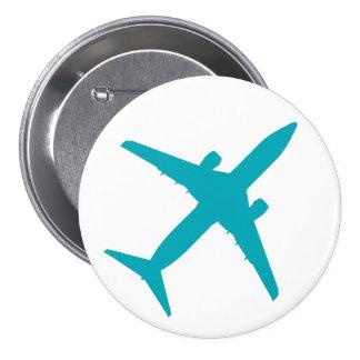 Aeroplano gráfico en azul pins