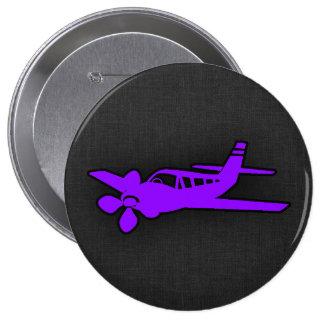 Aeroplano púrpura violeta pins
