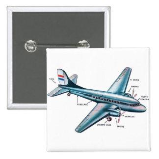 Aeroplano retro del apoyo de los años 50 del kitsc pin