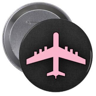Aeroplano rosa claro pins