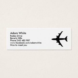 Aeroplano Tarjeta De Visita Mini