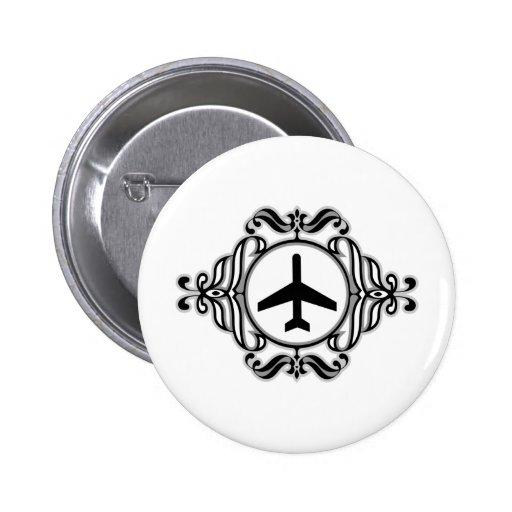 Aeroplano tribal pins