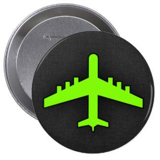 Aeroplano verde chartreuse, de neón pin