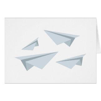 Aeroplanos de papel tarjeta de felicitación