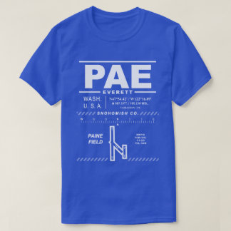 Aeropuerto de Snohomish Co/camiseta del campo PAE Camiseta
