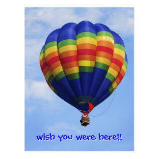 Aerostación del aire caliente del arco iris postal