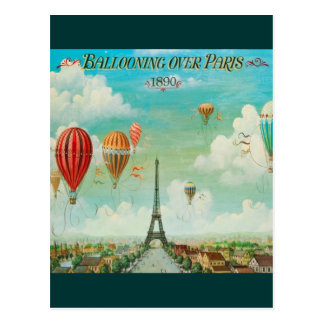 Aerostación sobre París Tarjeta Postal