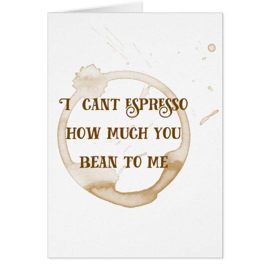 Afecto del café de la tarjeta el | de la tarjeta