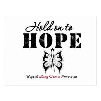 Aferrar de cáncer de pulmón a la esperanza postal