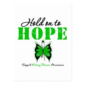 Aferrar de enfermedad de riñón a la esperanza tarjetas postales