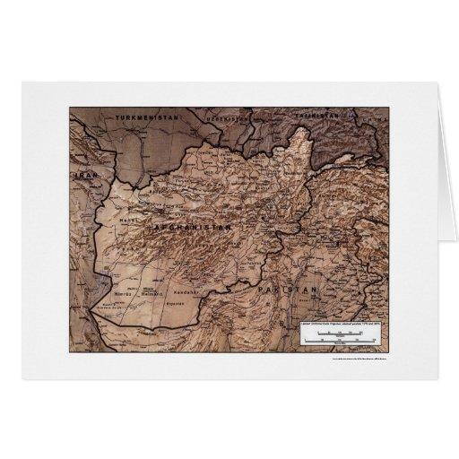 Afganistán detalló el mapa 1999 tarjeta