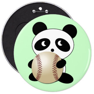 Aficionado al béisbol chapa redonda 15 cm