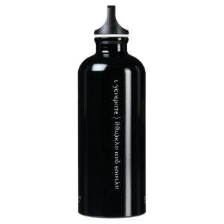 """Afirmación ocultada """"soy"""" botella abundante--Negro"""