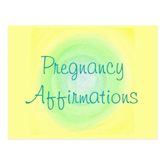 Afirmaciones del embarazo, postales