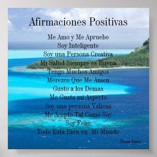 Afirmaciones Positivas Posters